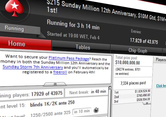 sunday million 12th