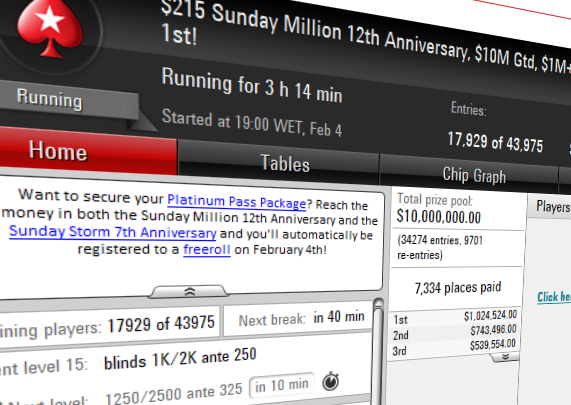 sunday million 12th